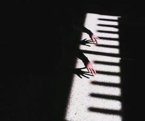 piano, music, and shadow image