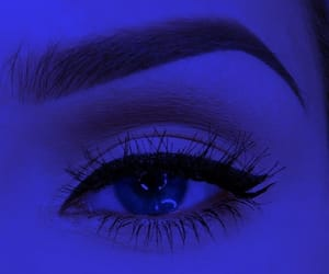 <3, blue, and make up image