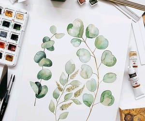 art, leaves, and watercolor image