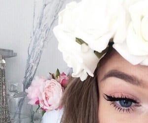 eyeliner, indie, and spring image