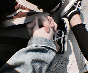 couple, vans, and love image