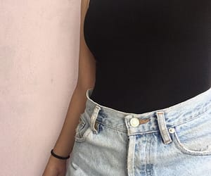 black, goals, and jeans image