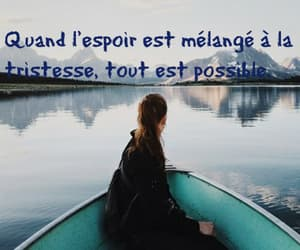 espoir, quotes, and tristesse image