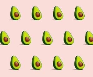 avocado, wallpaper, and pink image