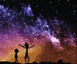galaxie, galaxy, and pixels image