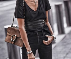 bag, black, and jewelry image