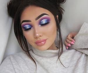 black, blue, and eyeshadow image