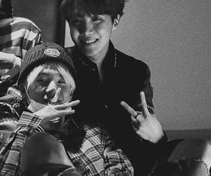 black and white, sope, and jung hoseok image