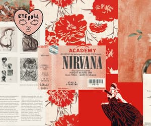 Collage, nirvana, and red image