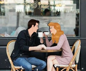art, couple goals, and coffee image