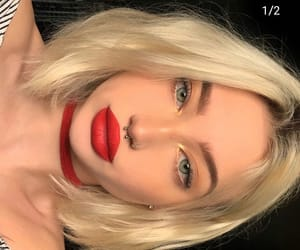 beauty, lips, and blonde image