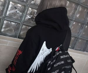 angel, awesome, and backpack image