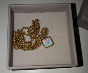 gold, opal, and kette image