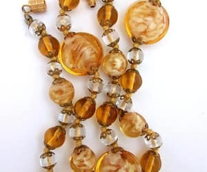 art glass, vintage, and venetian necklace image