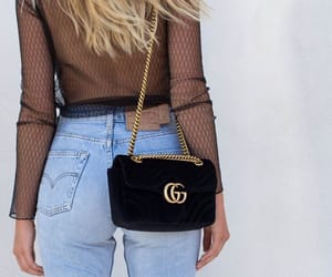 bags, jeans, and beauty image