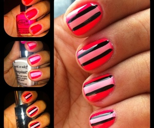 strips and neon nails image