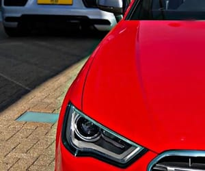 audi and red image