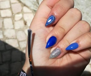 beuty, blue, and unhas image