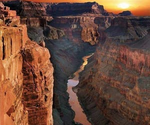 grand canyon, nature, and sunset image