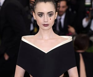 lily collins, met gala, and fashion image
