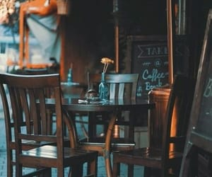 brown, coffee, and coffee shop image