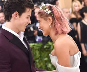 hailey baldwin, shawn mendes, and met gala 2018 image