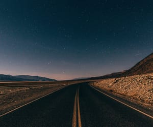 road, stars, and travel image