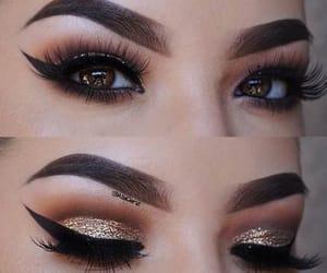 eyes, glitter, and lashes image