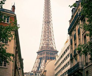 paris and eifel tower image