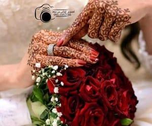 bride, red nail polish, and 🌹 image