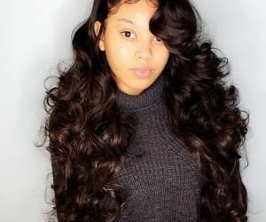 prom hair, wavy, and sew-in image