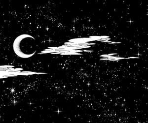 gif, stars, and moon image