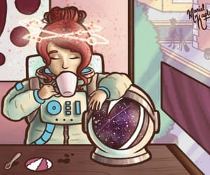 art, astronaut, and coffee image