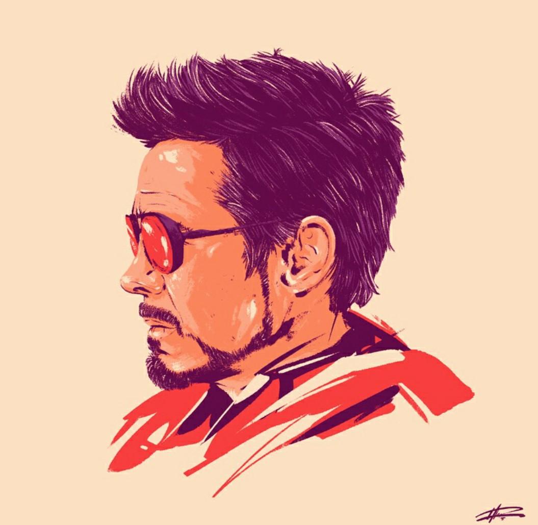 Tony Stark Art By Marie Bergeron On We Heart It