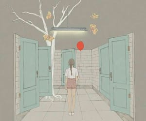 art, illustration, and balloon image