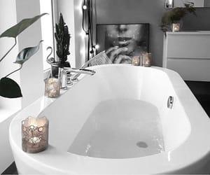 interior, bathtub, and room image