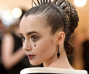 lily collins and met gala image