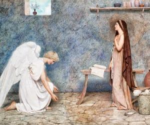 angel, cherub, and heaven image