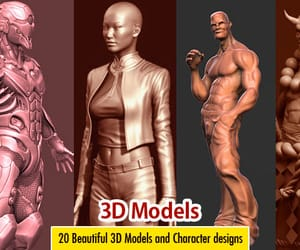 3d model, 3d models, and 3d characters image