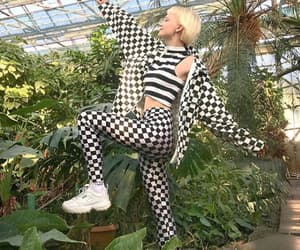 babe, checkered, and fashion image