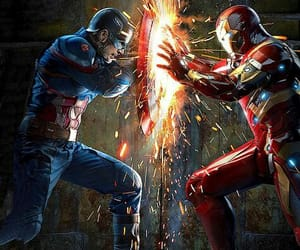 civil war, iron man, and captain america image