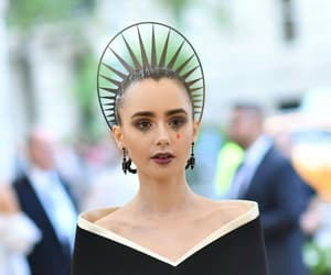 crown, fashion, and lily collins image