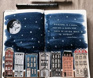 art, quotes, and moon image