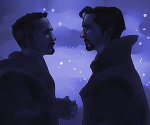 art, Avengers, and tony stark image