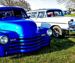 automobiles, blue, and old school image
