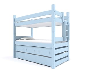 captain's bunk bed and in built storage image