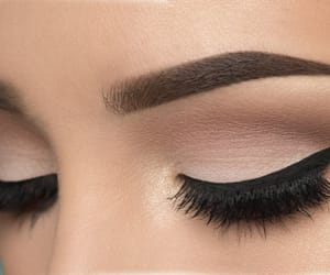 eye liner, wow, and brows image