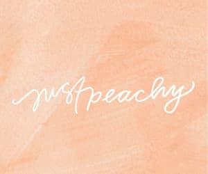 peach, peachy, and wallpaper image