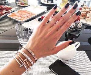 girl, nails art, and nails image