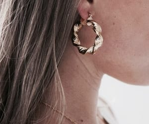 accessory, hoop earrings, and style image